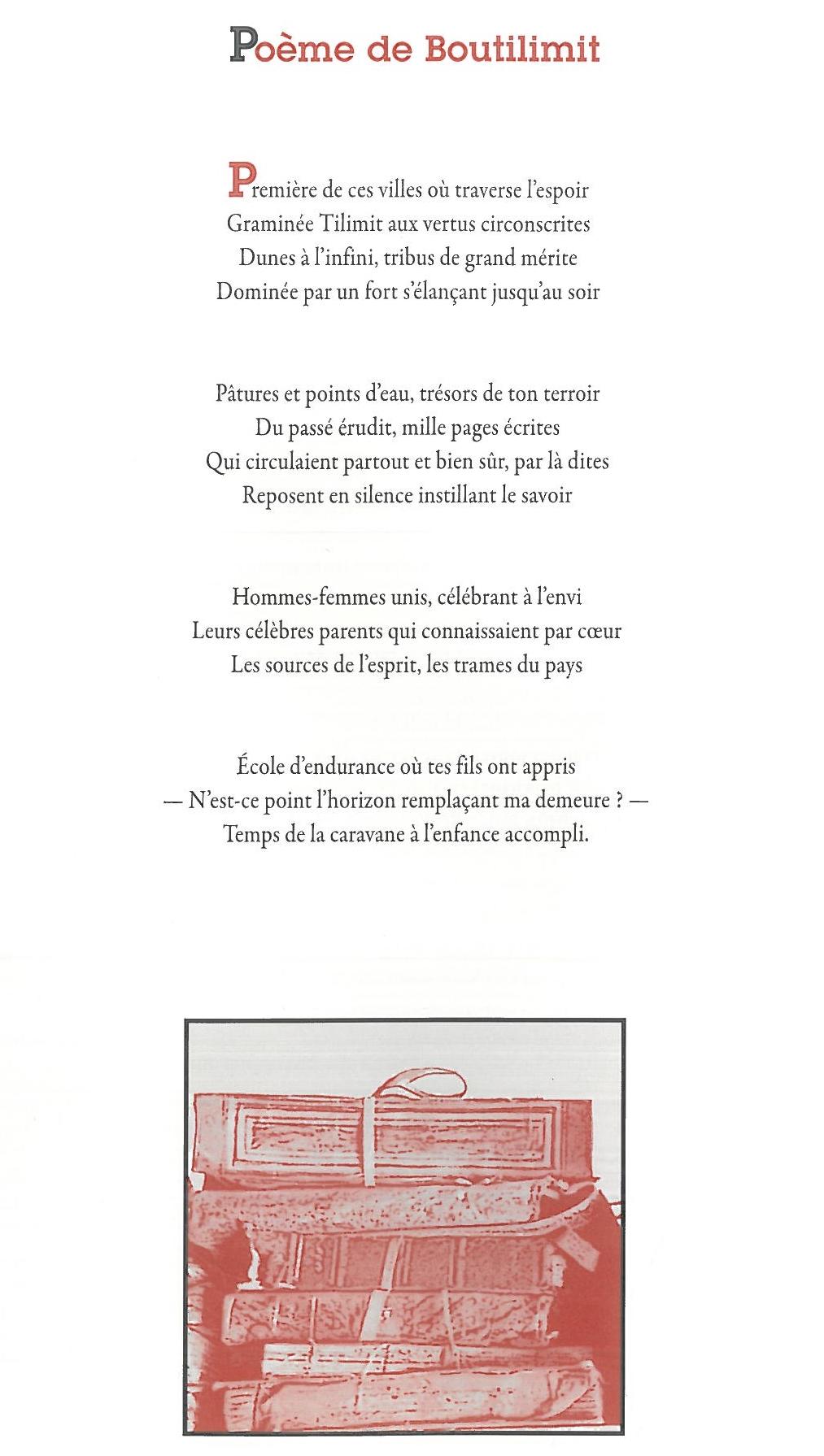 Poème de Boutilimit