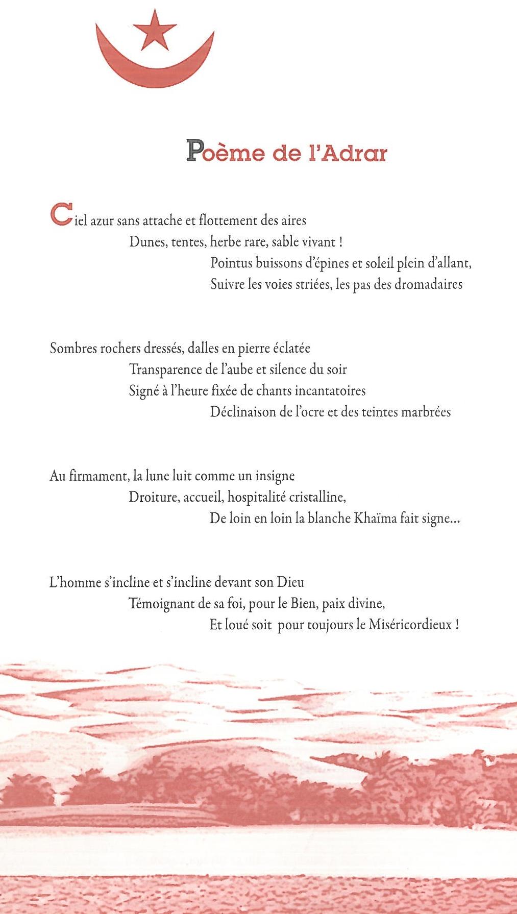 Poème de l'Adrar