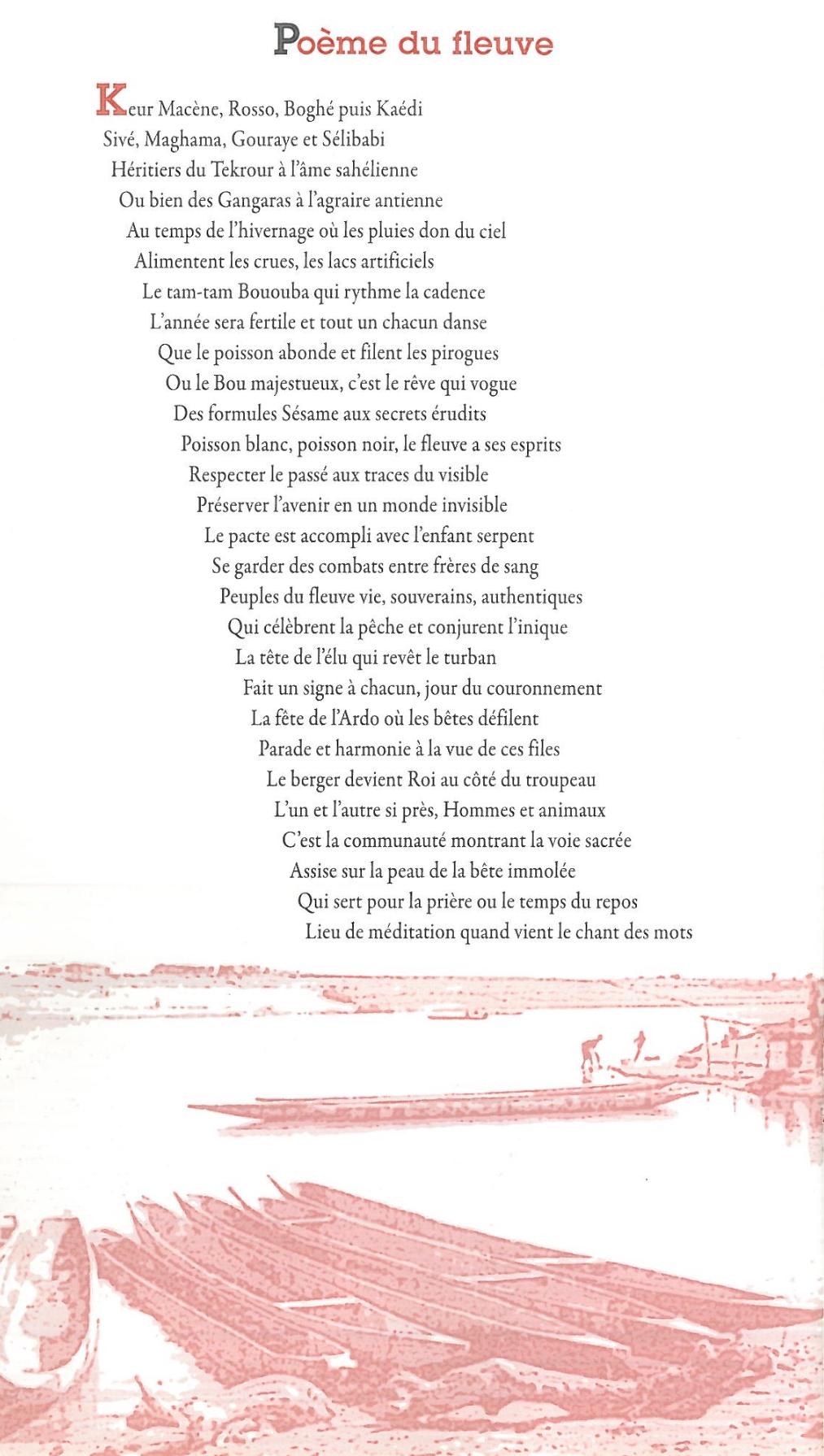 Poème de la vallée du fleuve