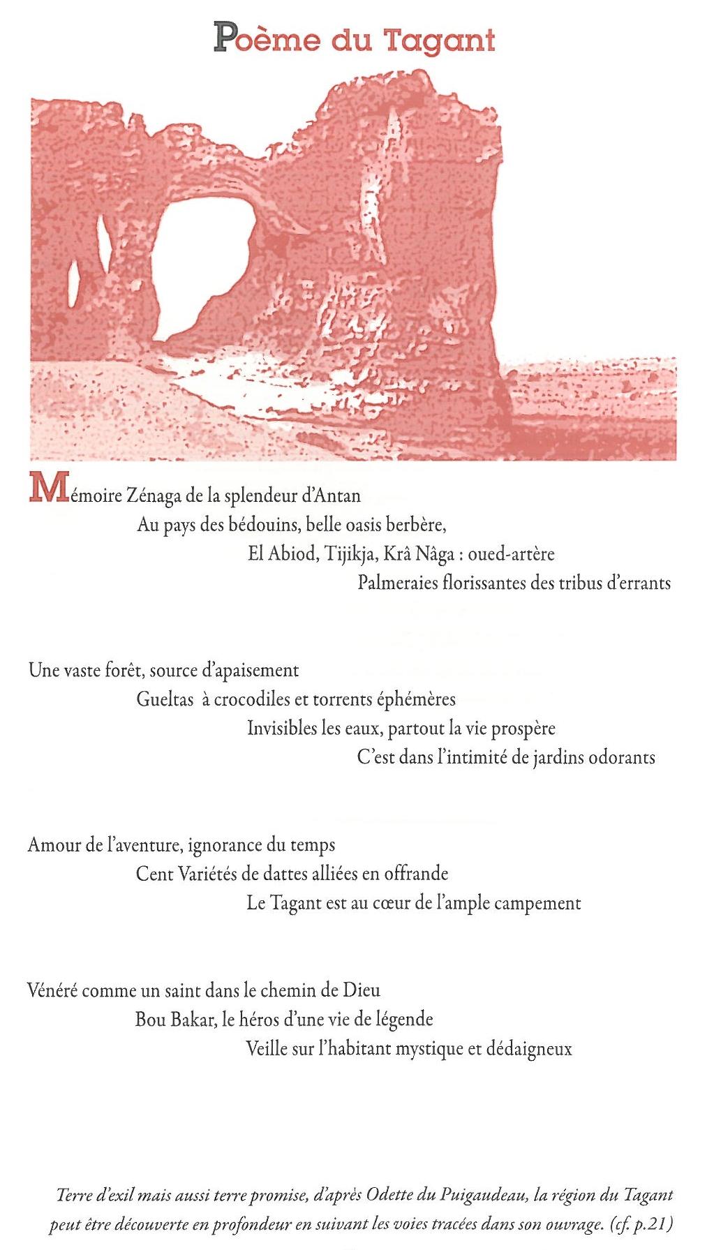 Poème du Tagant