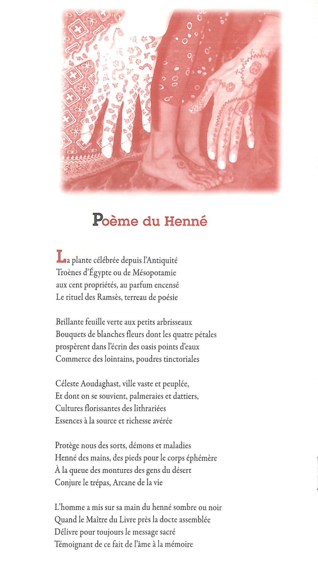 Poème du henné