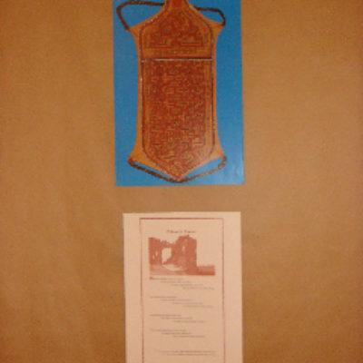 L'exposition présente chaque planche du recueil accompagnée d'une illustration tirée de «Formes et couleurs» de Marie-Françoise Delarozière.