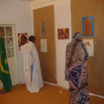 Vue de l'exposition à la Fondation Moktar Ould Daddah.
